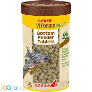 sera Viformo Nature 250mL Bottom Feeder Tablets Sinking Freshwater Fish Food