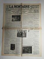 N491 La Une Du Journal La montagne 28 août 1928 la farce autonomiste