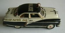 "1950's Japan Marusan Kosuge Police Patrol Car Tin Litho 10.5"" Battery-op #CK116"