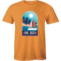 San Diego California Souvenir Printed Short Sleeve Men's T-shirt Best Gift Tee