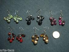 stock 5 coppie orecchini perle vetro cristallo vendi bigiotteria lotto affare
