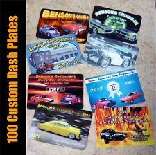 "100 Custom Car Show 2""x 3"" Full Color Dash Plates Plaques Event Antique Hot Rod"