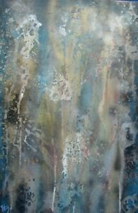 Modernist LARGE ABSTRACT PAINTING Expressionist MODERN ART CLIMAX FOLTZ $