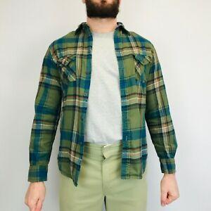 Vintage Flannel Check Shirt Medium Long Sleeve