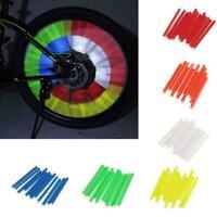 12Pcs Bike Bicycle Wheel Spoke Reflector Reflective Tube Clip Mount M6H8