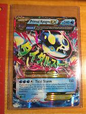 LP JUMBO Pokemon Mega PRIMAL KYOGRE EX Card CLASH 55/160 OVERSIZED Large Promo