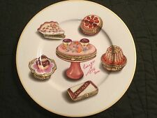 1855 Email de Limoges Main a S Marino I Godinger Pastries Plate Signed France