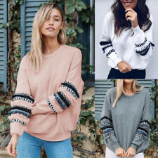 Womens Hoodies Casual Sweatshirt Winter Ladies Baggy Tassel Jumper Coat Pullover
