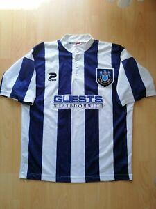 West Bromwich Albion WBA Vintage Home Football Jersey 1995 1996 XL 42/44 Shirt