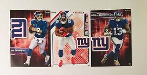 "New York Giants Fathead Tradeable Bundle 5"" x 7"" with logos"