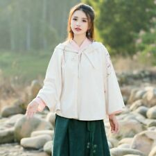 Lady Girls Cloak Cape Jacket Hooded Coat Chinese Outwear Poncho Baggy Retro Tops