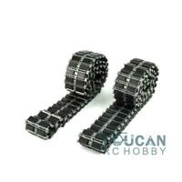 German Leopard2 RC Tank Metal Tracks W/ Inserted Rubber Pads Best 1/16 Scale