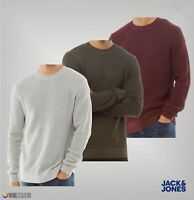 Mens Jack And Jones Ribbed Crew Neck Top Knit Jumper Sizes from S to XXL