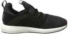 Puma Mega NRGY Knit Women's Running Shoes Black/Asphalt - Size US 7