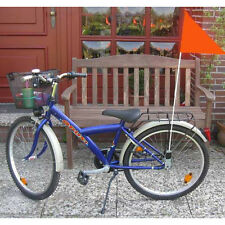 Kinderfahrradfahne 1,60 m, Kinder Sicherheits Fahrrad Fahne Flagge Wimpel,orange