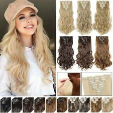 CLEARANCE All Shades 8 Pieces Thick as Real Clip in Hair Extensions Full Head US