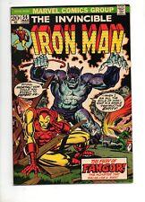 Iron Man #56 High Grade Nm- 9.2! Starlin Art! 1 St Fangor! 1973 Dr Strange Cameo
