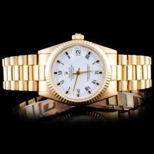 Rolex 18K YG Mid-Size DateJust Women Watch Lot 589