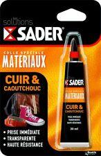 Sader Colle pour Cuir/Caoutchouc Gel Extra Forte Néoprène Bois Chaussure Bagage
