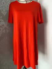 Womens Papaya Weekend Size 18 Red Tshirt Dress Holiday Summer Casual  Swing