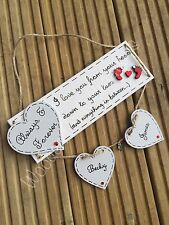 Personalised Wooden Heart Love Plaque Valentine's Day
