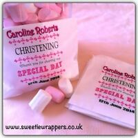 30 x Personalised Sweet Bags Candy Sweet Buffet Candy Cart Christening Favour