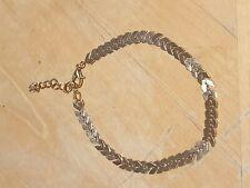ARROW BEADED ANKLET ANKLE BRACELET CHAIN ADJUSTABLE GOLD, stocking filler