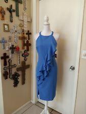 Vince camuto dress 14, Rufles, Halter, Blue Color,