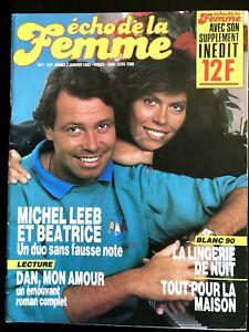 Echo de la femme n°1 du 2/01/1990; David Hasselhoff/ Michel Leeb