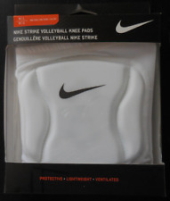 Nike Strike Volleyball Knee Pads One Pair Color White/Black Size Adult M/L New