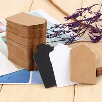 100Pcs Scalloped Edge Packaging Label Paper Labels Kraft Stickers Hang Cards