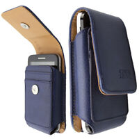 caseroxx Leather bag with belt loop for Dexcom G6 Receiver in blue made of genui
