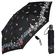 Fashion Umbrella - Color Changing Musical Notes - Compact Folding Travel