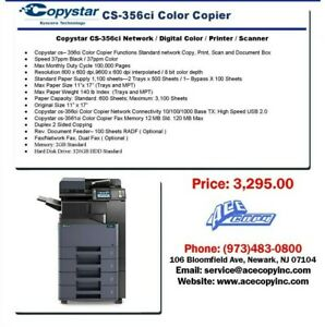 Copystar CS-356ci Laser MFP Print/Scan/Copy Color Copier