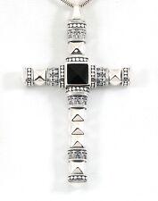 THOMAS SABO - Anhänger Silber Rebel at Heart Ethno Kreuz schwarz groß PE776