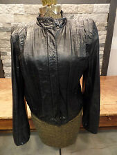 Vintage Leather Motorcycle Jacket Black Made In Korea Women's Size 5/6 Nice!