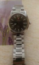 Orologio  Swiss military all stainless steel watch swiss made clock QUARTZ  50 M
