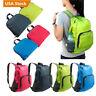 30L SPORTS BOOKBAG Camping Travel Folding Backpack Duffle Gym Nylon Bags Mini US