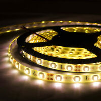 5m Flexible Bright LED Strip Lights 12V Waterproof 5050 SMD Warm White 300 LEDs