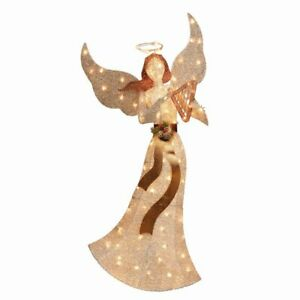 Holiday Time 60-inch Light Up Glitter Christmas Angel 100 Incandescent Lights