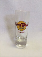 """Hard Rock Cafe Miami 4"""" Tall Tequila Shot Glass Clear Classic Circle Logo"""