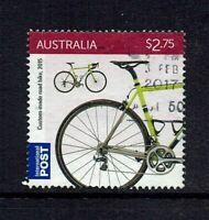 AUSTRALIA DECIMAL  2015 ROAD BIKE..INTERNATIONAL POST SHEET STAMP...USED
