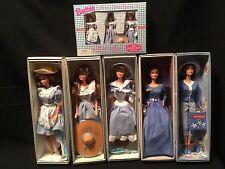 BARBIE DOLL SET OF 5 Little Debbie dolls w/ figurine set of 3 NRFB