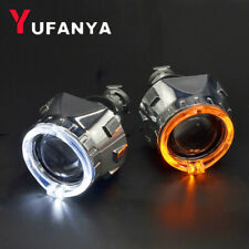 2.5'' HID Bi xenon Projector Lens LED Angel Eyes Turn Signals Light DRL Retrofit