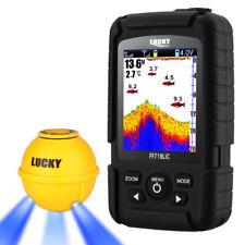 "45M/147ft Depth 2.8"" Color Fish Finder Sonar Sensor 125kHz with Attractive Lamp"