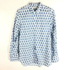 Garnet Hill Womens Essential Cotton Button Down Career Shirt Sz 4 NWT Foral