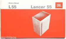 Vintage Original JBL L55 Lancer Owners Manual 23 Pages