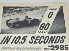 1955 Austin Healey England 100 Race Car Midget Junior 1950s Vintage Print Ad
