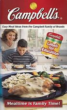 CAMPBELL'S EASY MEAL IDEAS FROM CAMPBELL FAMILY OF BRANDS COOKBOOK HAS COUPONS