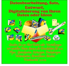 Satz, Datenbearbeitung, Entwurf, Digitalisierung
